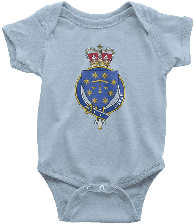 HARD EDGE DESIGN Infant's English Garter Family Starr Bodysuit, 6 Months, Light Blue