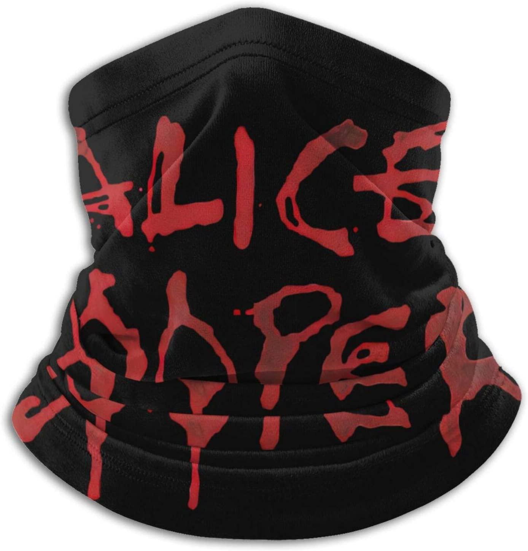Vsldfjc Music Alice Cooper Balaclava Mask, Face Mask Scarf, Multifunctional Warm Neck Scarf Headscarf mask for Riding Motorcycling.