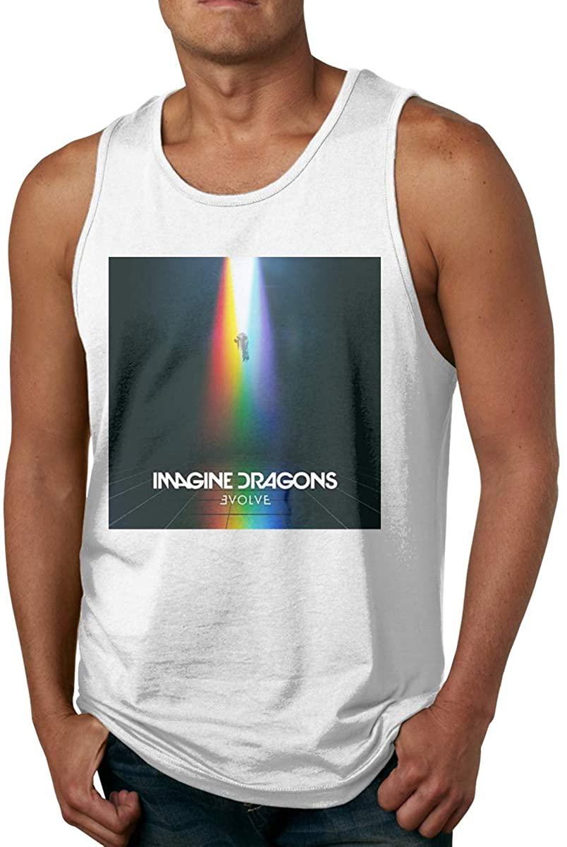 Men's Sleeveless Vest Short Sleeve T-Shirt Imagine Dragons Cool Personality Design White