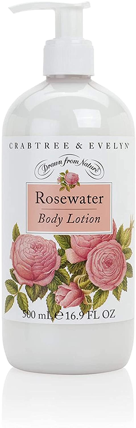 Crabtree & Evelyn Body Lotion, Rosewater, 16.9 Fl Oz