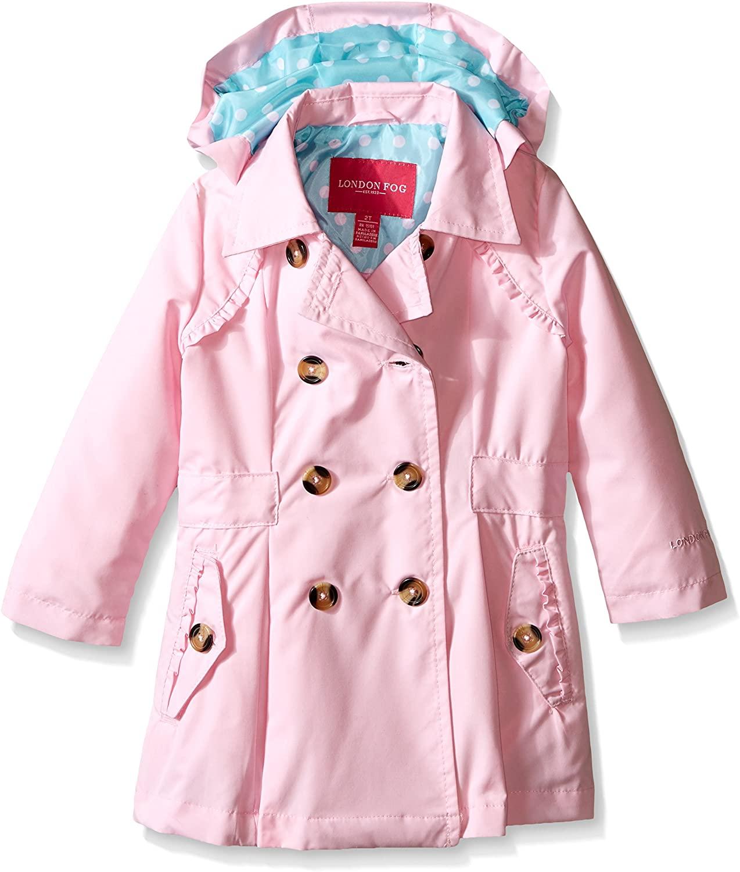 LONDON FOG girls Lightweight Trench Dress Coat Jacket