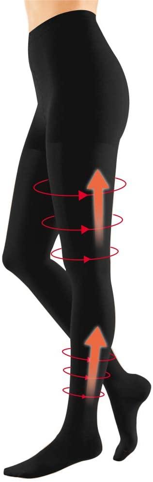 Compression Pantyhose for Women 20-30 mmHg Opaque Closed Toe Support Gradient Compression Women Swelling, Varicose Veins, Edema for Nurse, Flight, Teacher Black 2XL