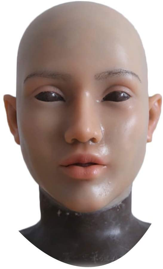 NADAENMJ Latex Face Mask Female Soft Silicone Crossdressing Halloween Cosplay Angel Face Mask Realistic Masquerade Mask