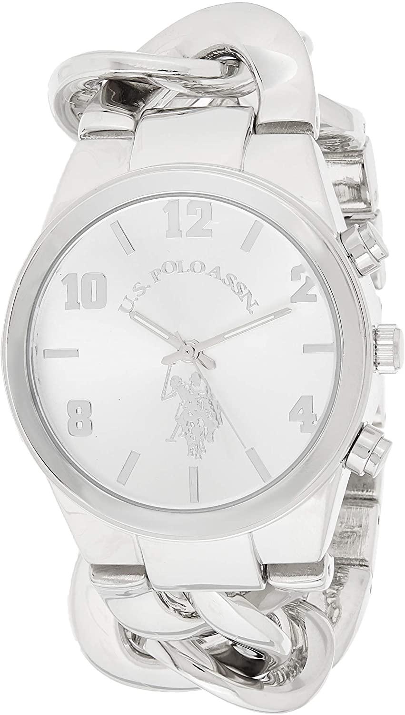U.S. Polo Assn. Women's USC40178 Analog Display Analog Quartz Silver Watch
