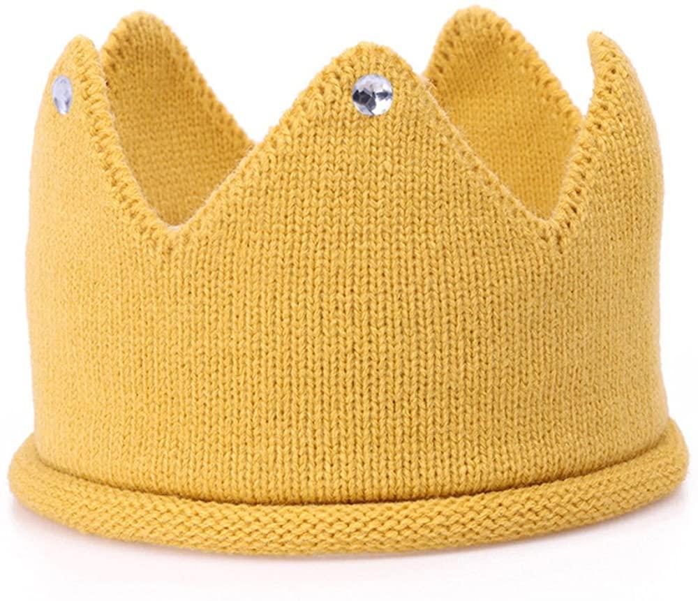 Baby Crown Hat Boys Girls Knit Headband Birthday Party Warm Crochet Beanie for Toddler Child PTK20