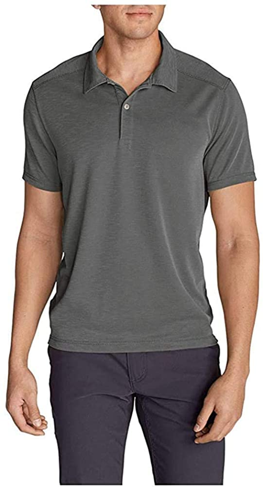 Eddie Bauer Men's Contour Performance Slub Polo Shirt