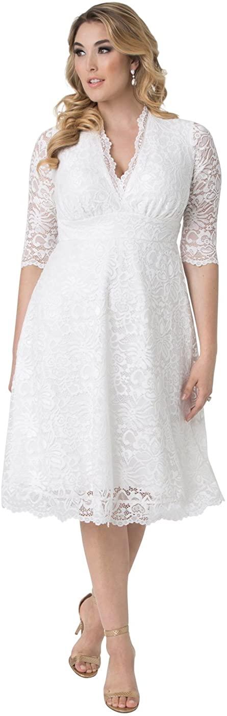 Kiyonna Women's Plus Size Wedding Belle Dress