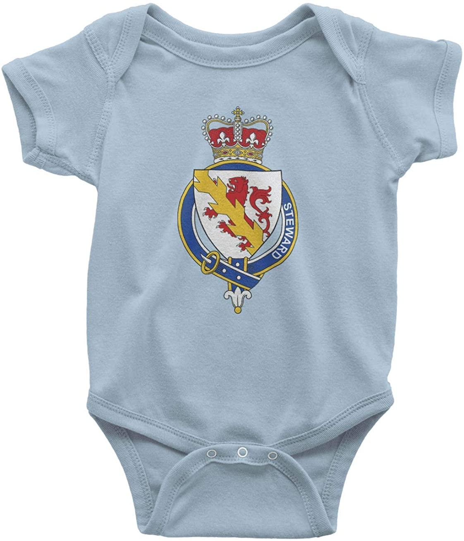 HARD EDGE DESIGN Infants English Garter Family Steward Bodysuit, 6 Months, Light Blue