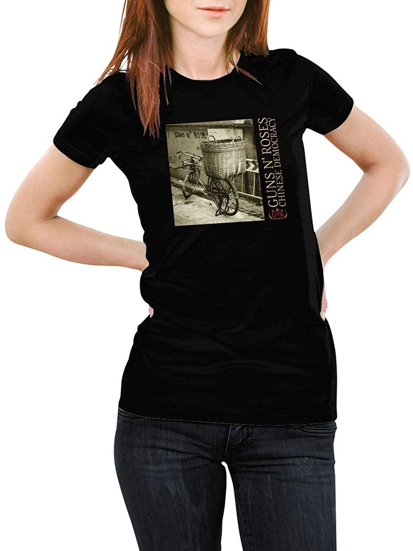 Guns N Roses Chinese Democracy Womens Tees Sports Ladies Round Neck Short Sleeve T-Shirt