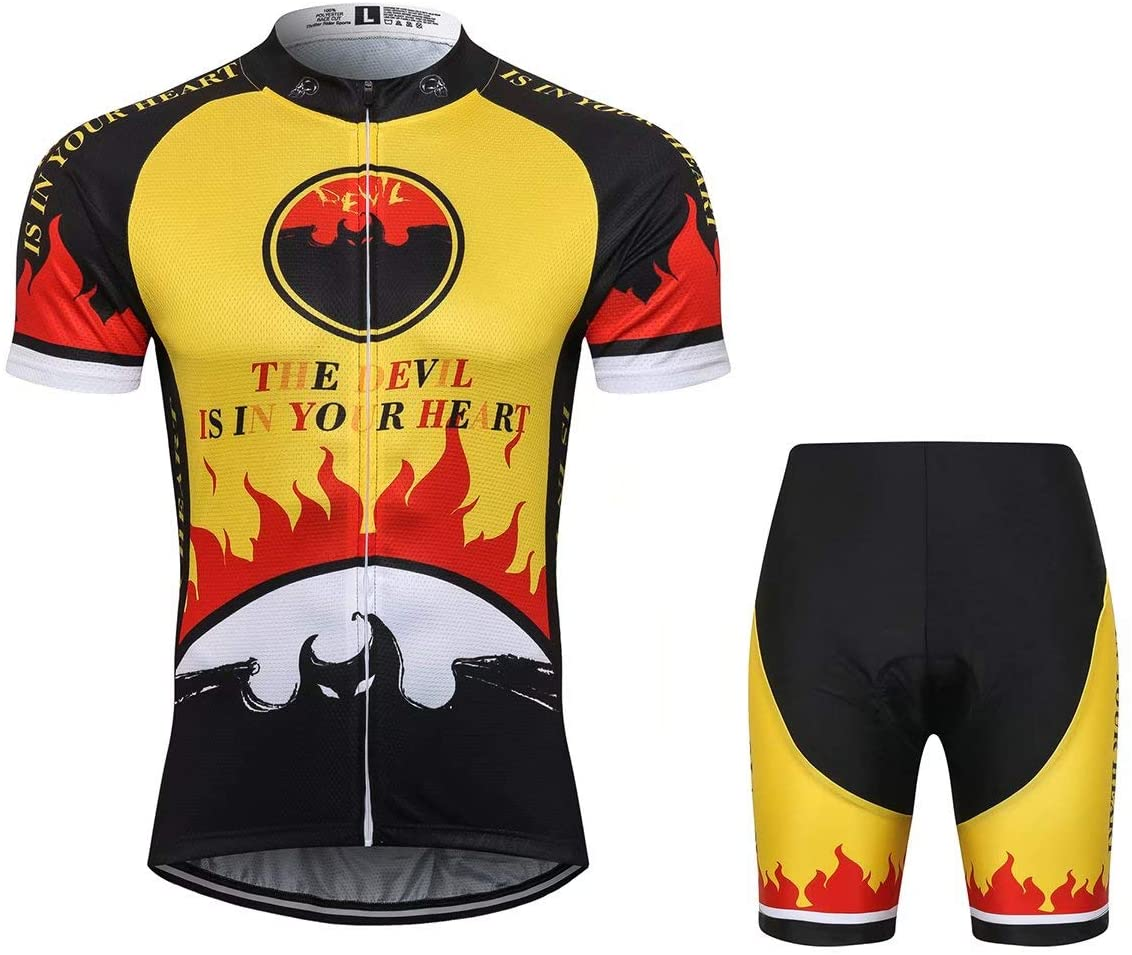 T.R.S Bicycle Clothing for Men Cycling Jersey and Shorts Kit