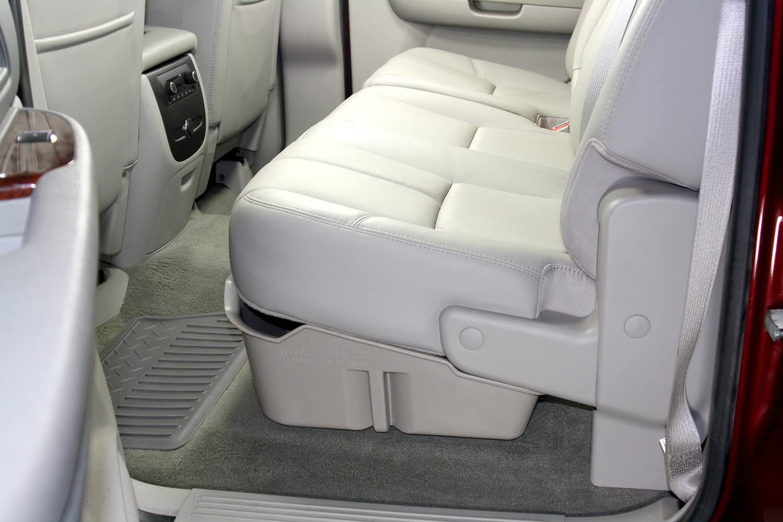 DU-HA Under Seat Storage Fits 07-13 Chevrolet/GMC Silverado/Sierra Light Duty & 07-14 Heavy Duty Crew Cab, Lt Gray, Part #10043