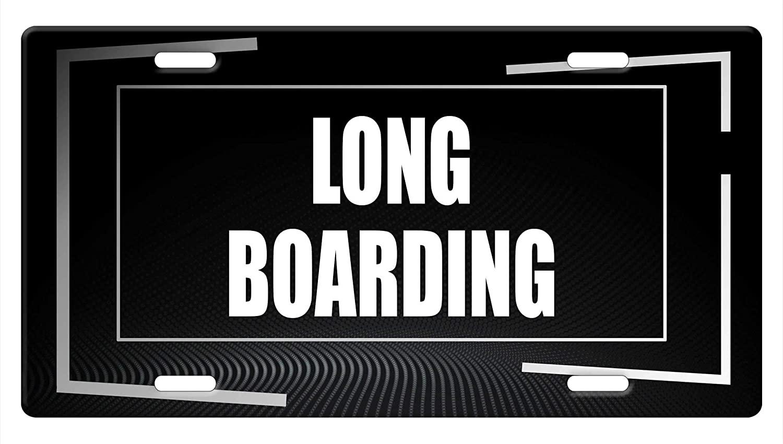 Makoroni - Long-Boarding Hobby Aluminum Car License Plate
