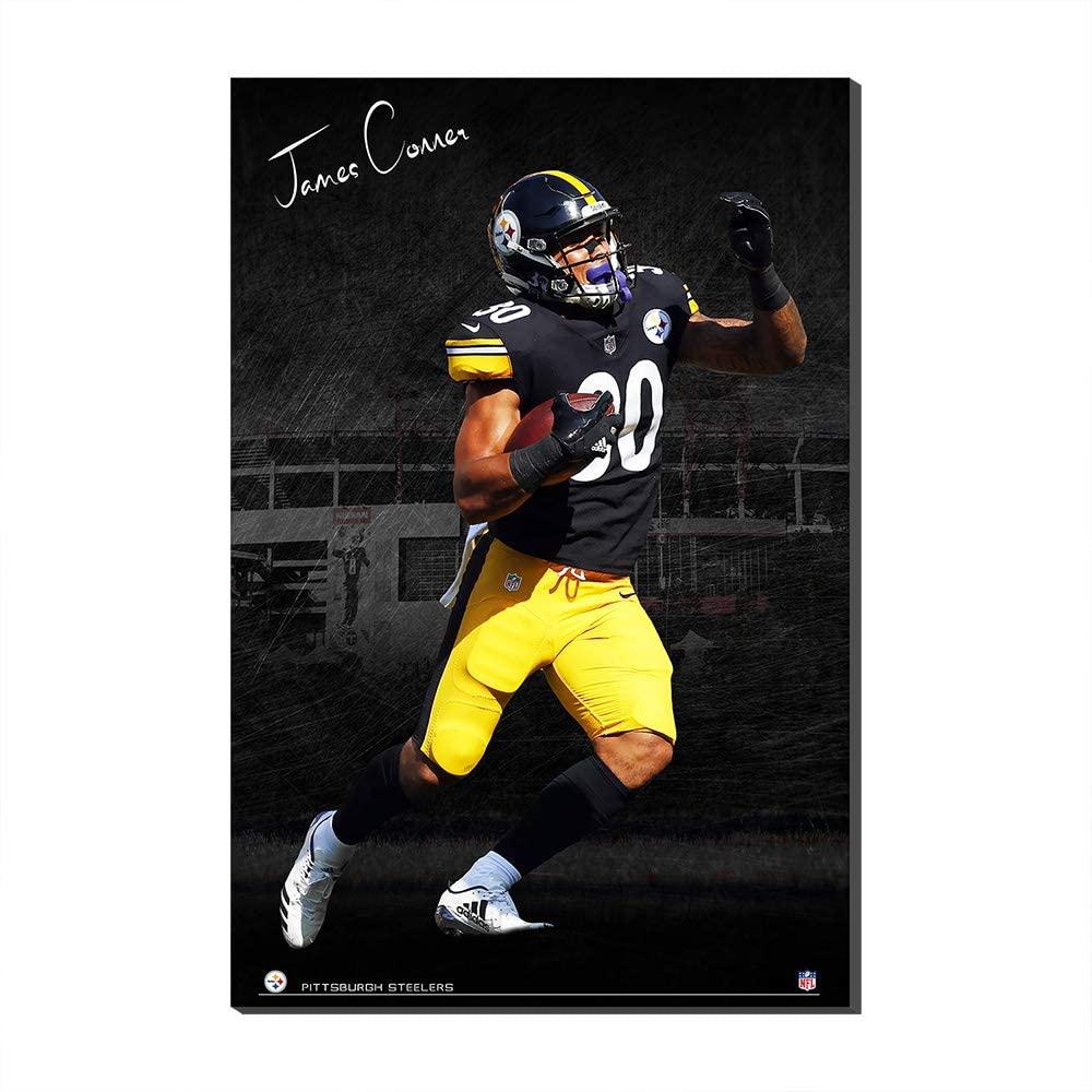 NFL1 Panel WallPosterCanvasPrintsSuperBowlFootballFans Gift Pittsburgh Steelers James Conner CanvasPrintPoster (No Frame,120x180cm)