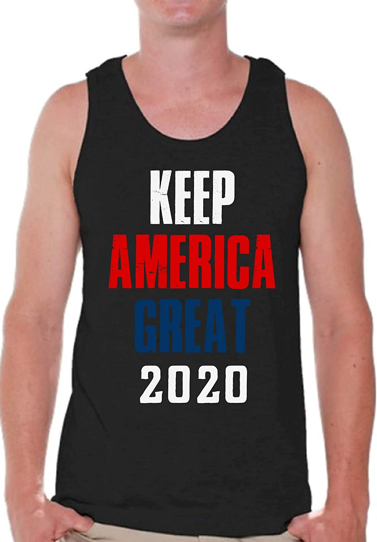 Pekatees President Trump Men's Tanks Donald Trump Tank Top for Men Republican Men Shirts