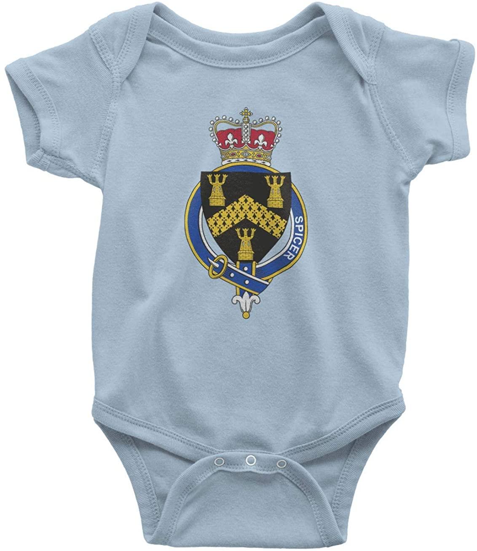 HARD EDGE DESIGN Infants English Garter Family Spicer Bodysuit, Newborn, Light Blue