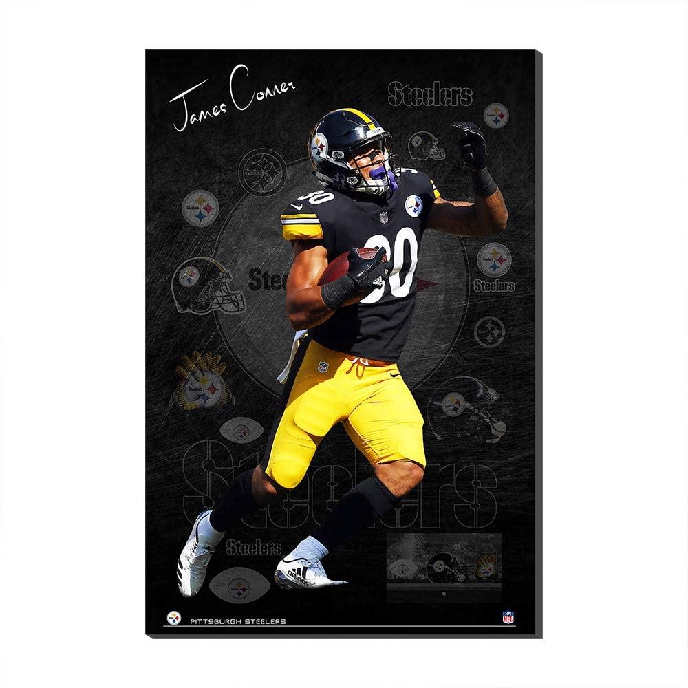 NFLWallPosterCanvasPrintsSuperBowlFootballFans Gift Pittsburgh Steelers James Conner CanvasPrintsPoster (No Frame,120x180cm)