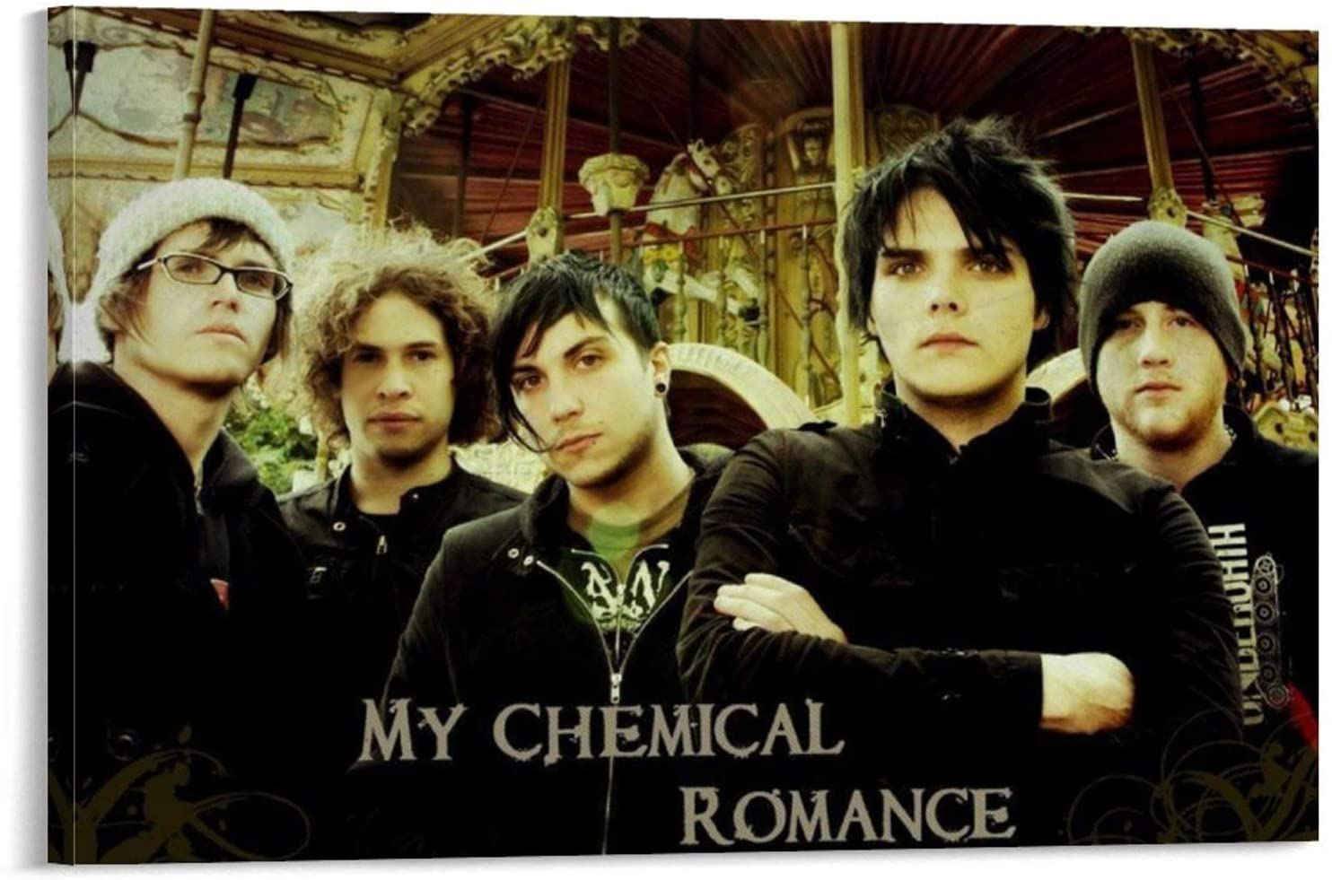 SDGW My Chemical Romance 4 Wall Poster Classic Rock Music Legend Celebrity Poster Wall Art Wall Print Wall Decor Home Decor Canvas Wall Art 24x36inch(60x90cm)