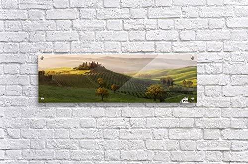 Acrylic Fine Art Wall Decor 36X11 Tutte le Strade Portano a Belvedere by Margarita Chernilova
