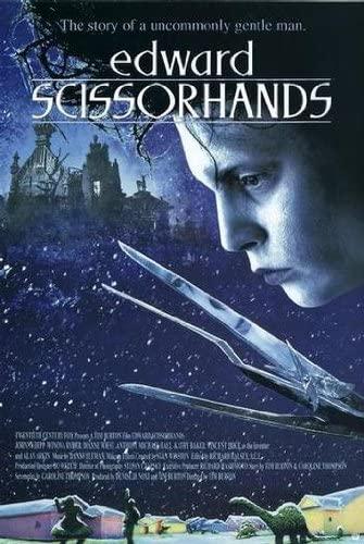 (24x36) Edward Scissorhands Movie (Johnny Depp, Snow) Poster Print