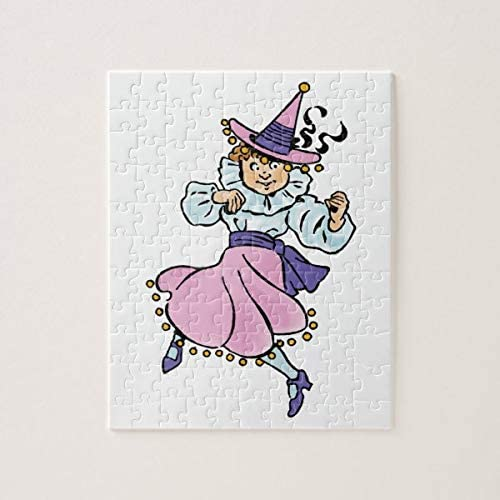 Vintage Wizard of Oz, Cute Dancing Girl Munchkin 500 Pieces Jigsaw Puzzle, Puzzles for Adults and Kids Jigsaw Puzzle Intellectual Decompressing Fun Family Game Toys