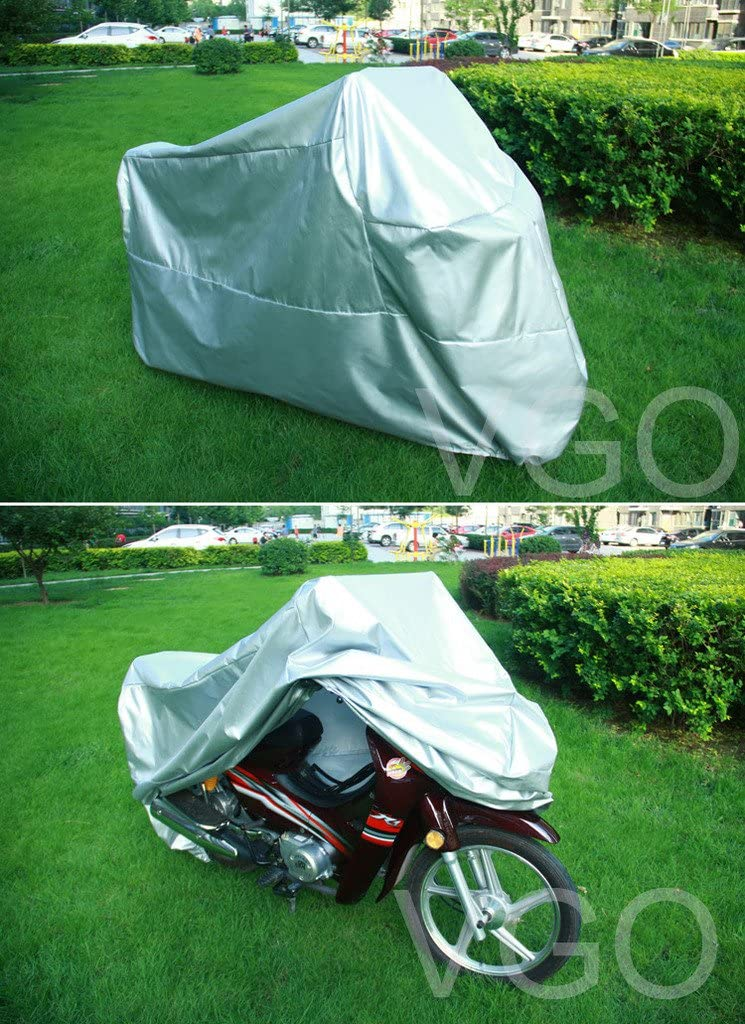 Vgo... Motorcycle Cover for Honda Shadow VT750DC UV Dust Prevention XL Silver