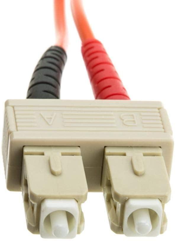 GOWOS Fiber Optic Cable, SC/SC, Multimode, Duplex, 50/125, 1 Meter (3.3 Feet)