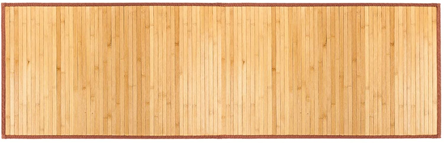 Shower Mat Bamboo Bath Mat for Spa Relaxation, Bathroom Rugs, Non-Slip for Indoor or Outdoor, Natural (21 x 60)