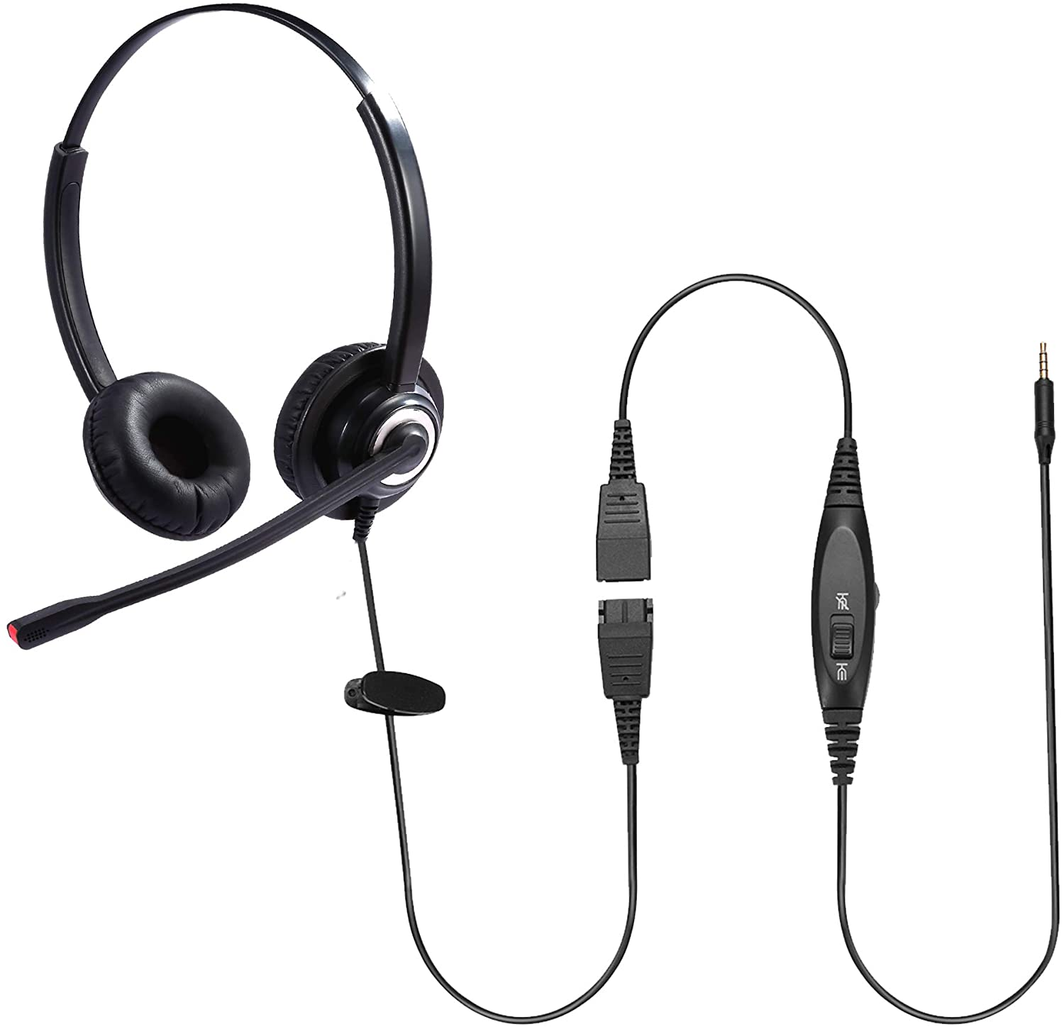 Sinseng Cell Phone Headset with Microphone Noise Cancelling & Audio Controls Wired Computer Headphone for iPhone Samsung Huawei HTC ZTE BlackBerry Smartphones and Laptop PC Mac Tablet with 3.5mm Jack