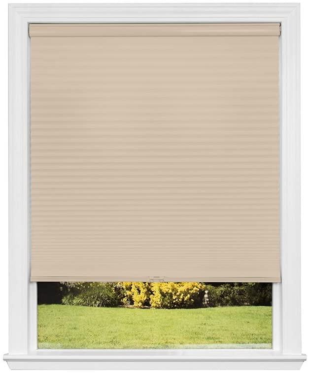 Artisan Select No Tools Custom Cordless Cellular Light Filtering Shades, Cornsilk, 23 in x 72 in