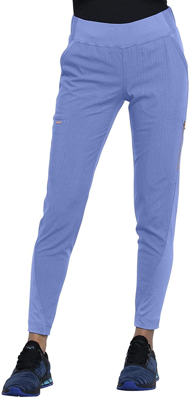 CHEROKEE Statement Mid-Rise Tapered Leg Pull-on Pant, CK175, L, Ciel Blue