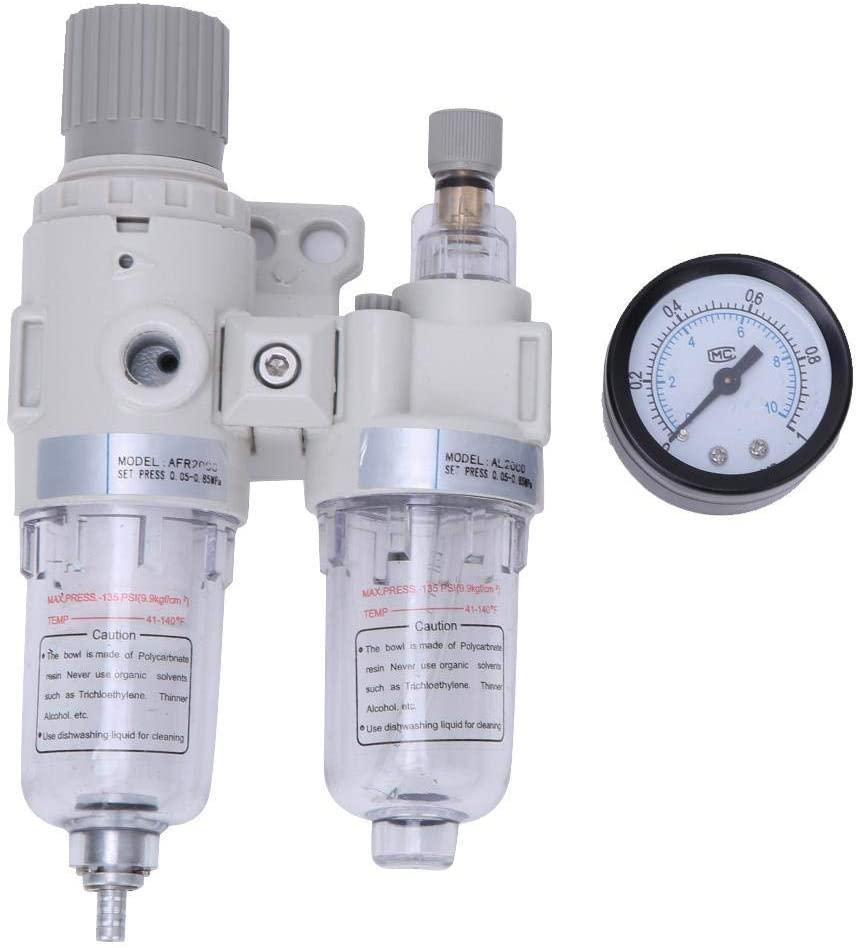 Compressed Air Filter Regulator Combo 1/4