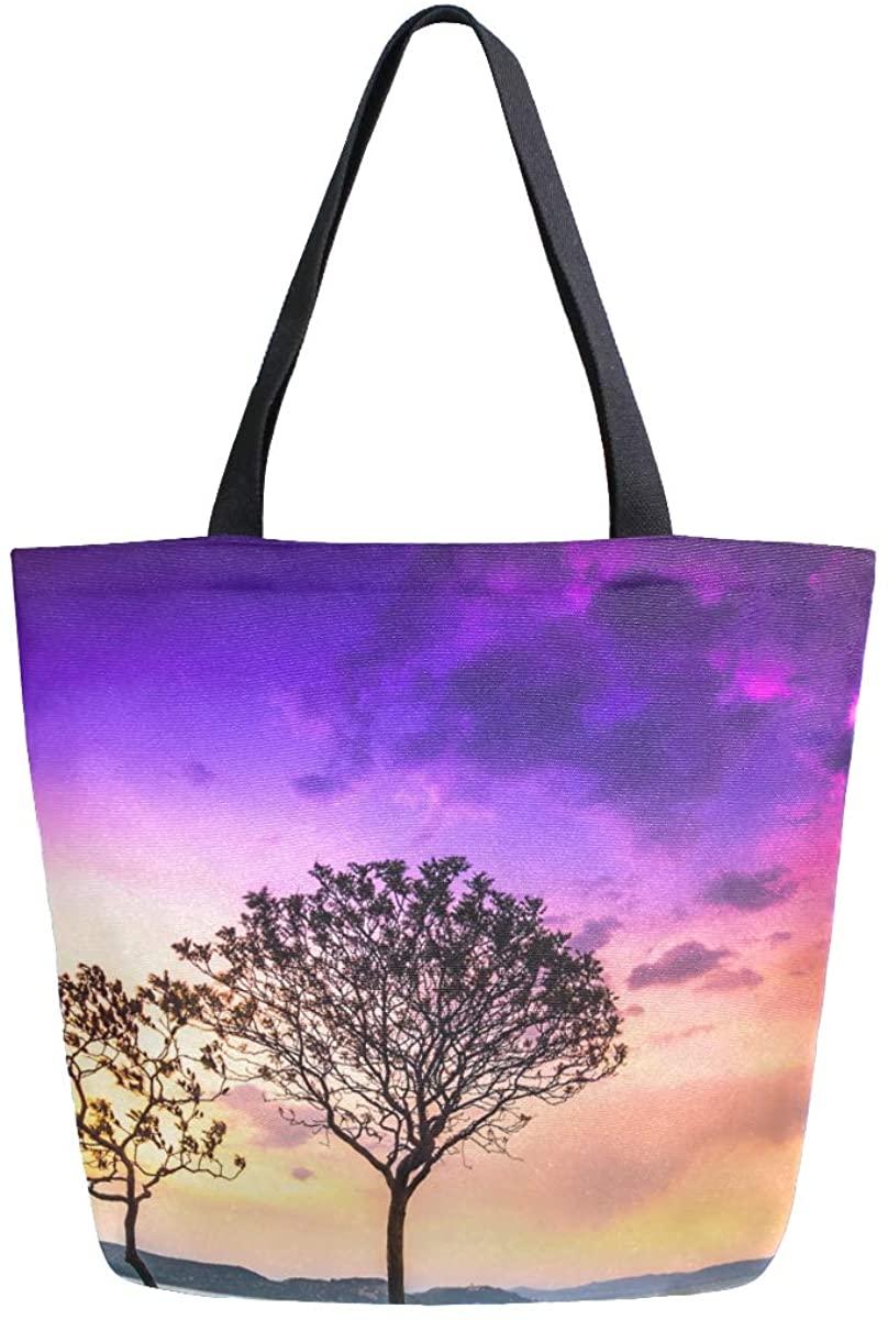 Woman Tote Bag Two Tree Shoulder Handbag for Work Travel Business Beach Shopping School