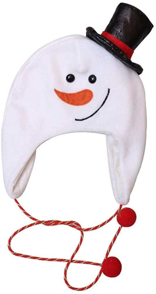 Creative Cartoon Christmas Hats Kids Adult Xmas Plush Santa Claus Snowman Deer Decoration Caps Party