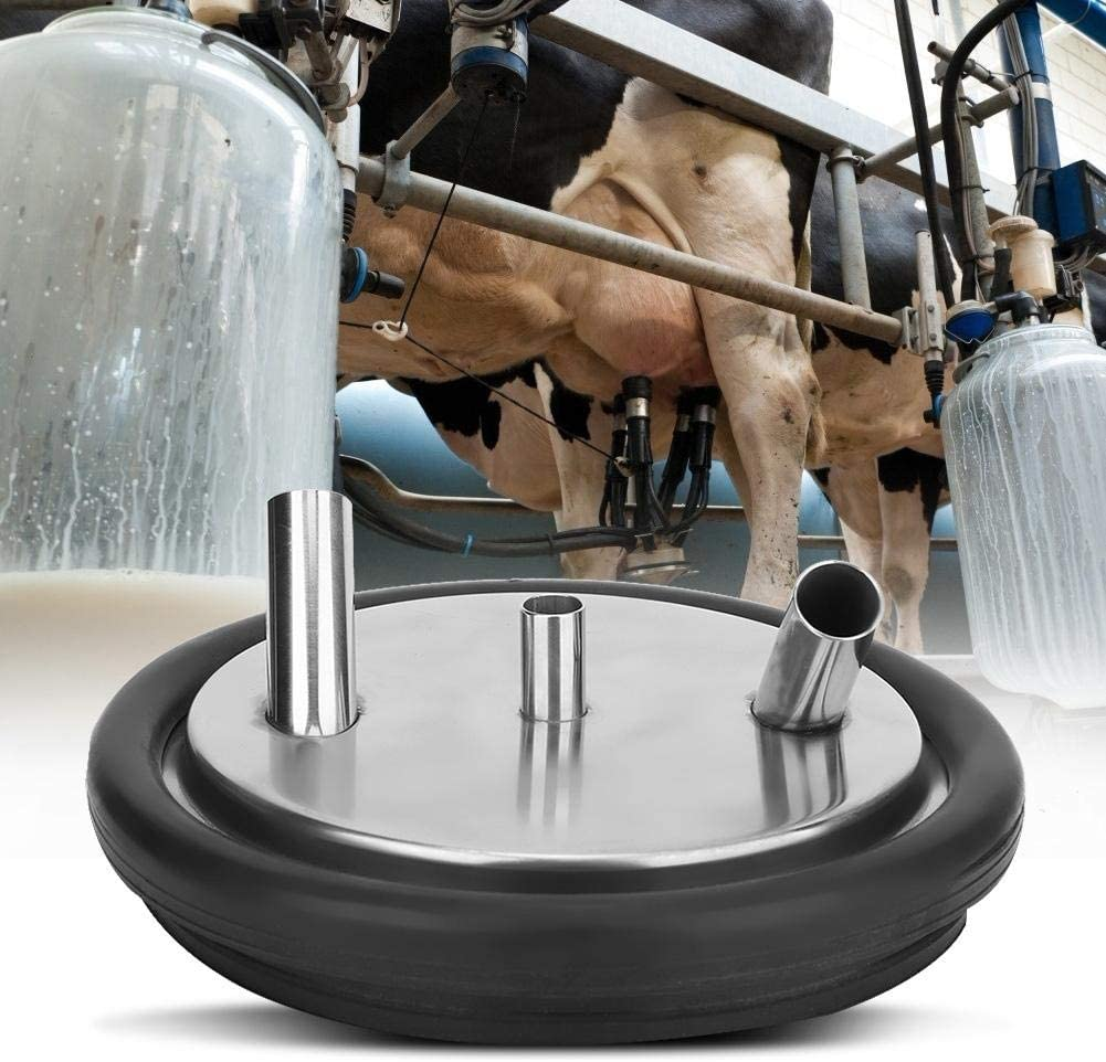 Milking Machine Bucket Lid, Reliable Three Open Lid Strong Adhesion Milk Bucket Lid, for Milking Machine Sheep Goat Cow