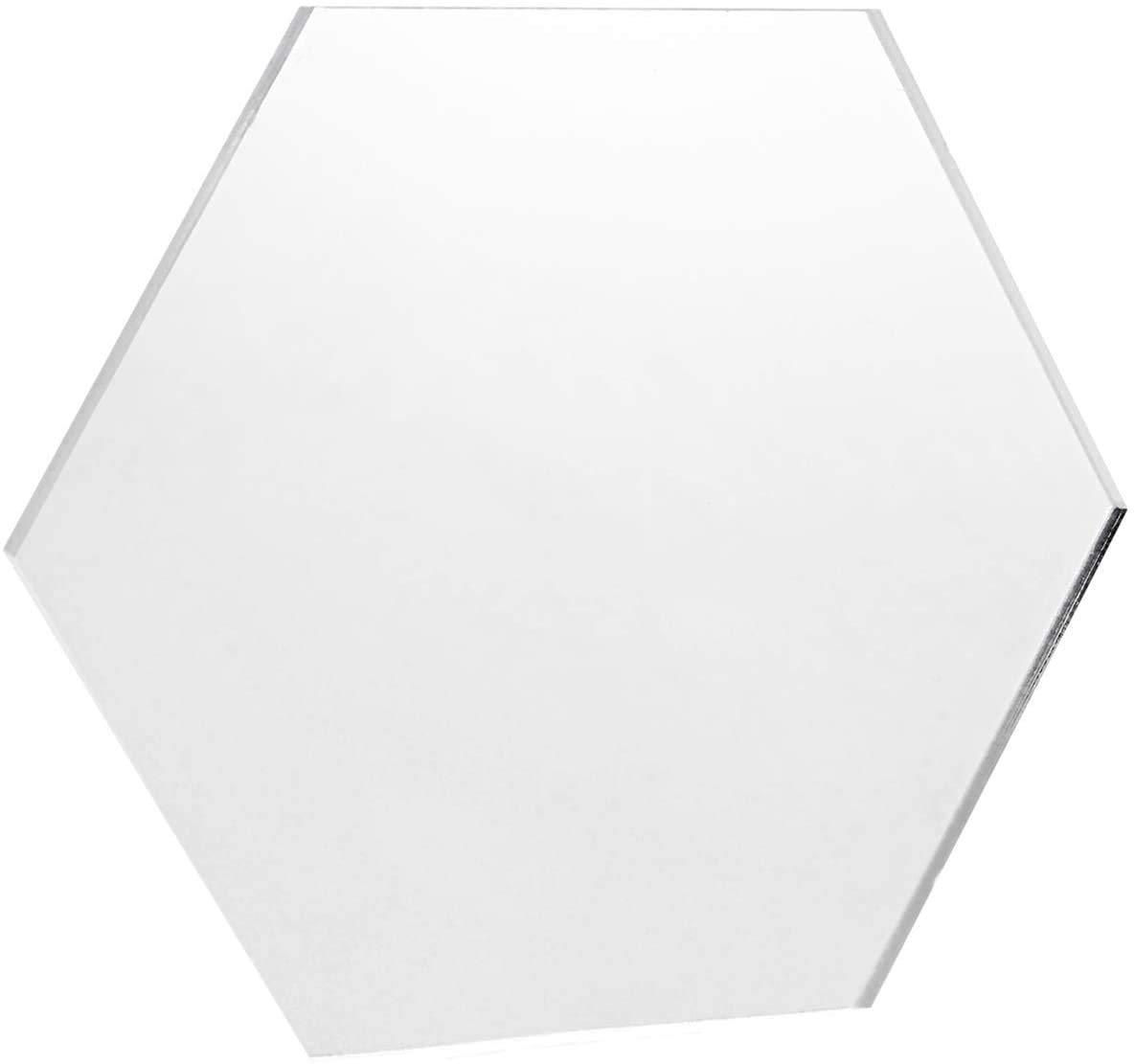 KastLite Clear Acrylic Hexagon | Plexiglass Hexagon with Custom Measurements | Selection: 1/16