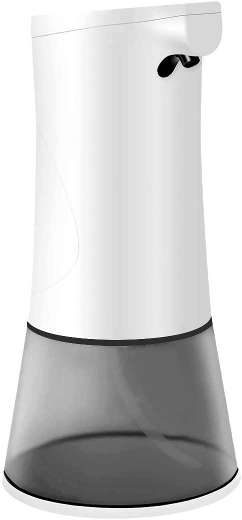 LinkIdea 12oz Automatic Foaming Soap Dispenser, Touchless Foam Hand Soap Dispenser Wall Mount Liquid Dish Soap Dispenser for Shower Kitchen Sink Countertop