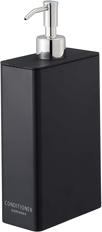 Yamazaki Tower Conditioner Dispenser Black Rectangular