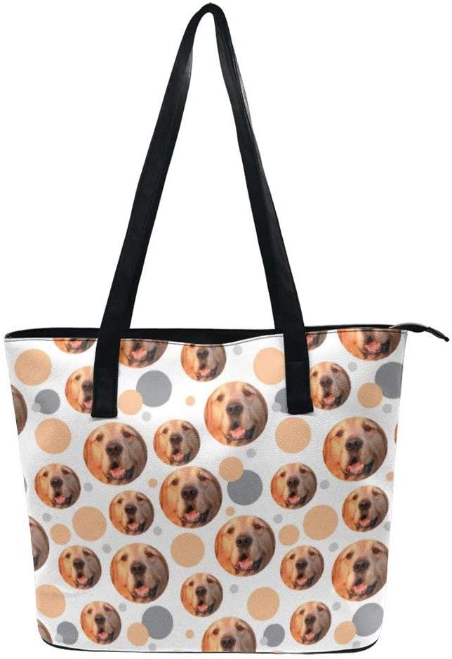 NiYoung Women Fashion Tote Bag, Lightweight Waterproof Handbag Shoulder Bag Large Capacity Bag for Business School Travel (Donut Patterns)