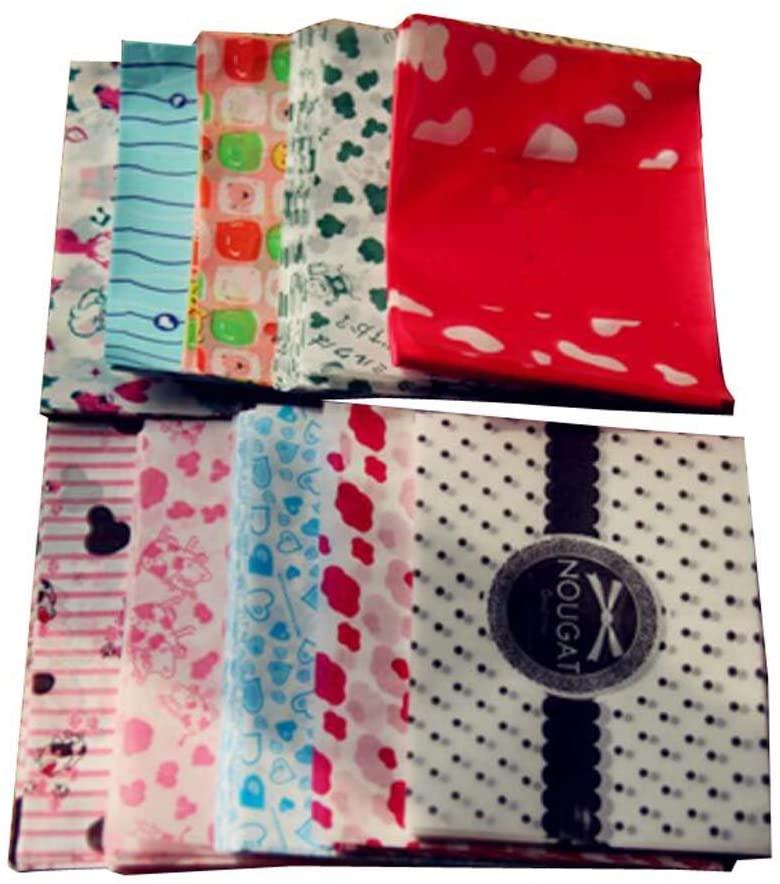Dragon Troops 500 PCS Milk Candy Paper Twisting Wax Paper Wrappers 125CM-Random Pattern,E
