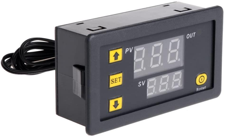 Pinhaijing Temperature Controller Relay Dual Digital LED Display Heating/Cooling Regulator Thermostat Switch