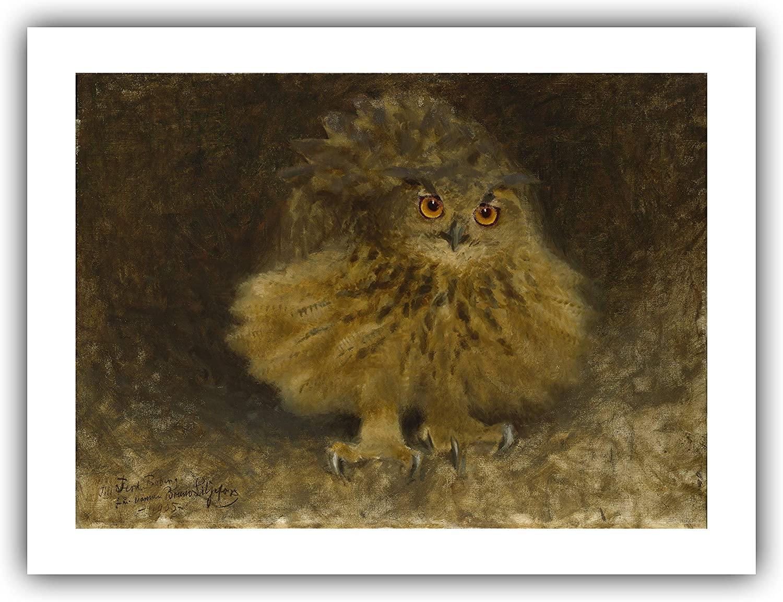 The Ibis Print Gallery - Bruno Liljefors : an Eagle Owl (1905) - Giclee Fine Art Print