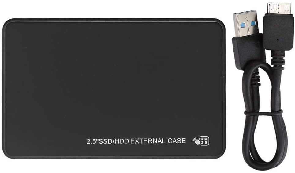 Liyeehao Mobile Hard Drive, HDD Box, ABS Material High-Speed USB 3.0 Interface for WINDOWS7/XP/Vista 2.5-Inch Hard Drives(Black)