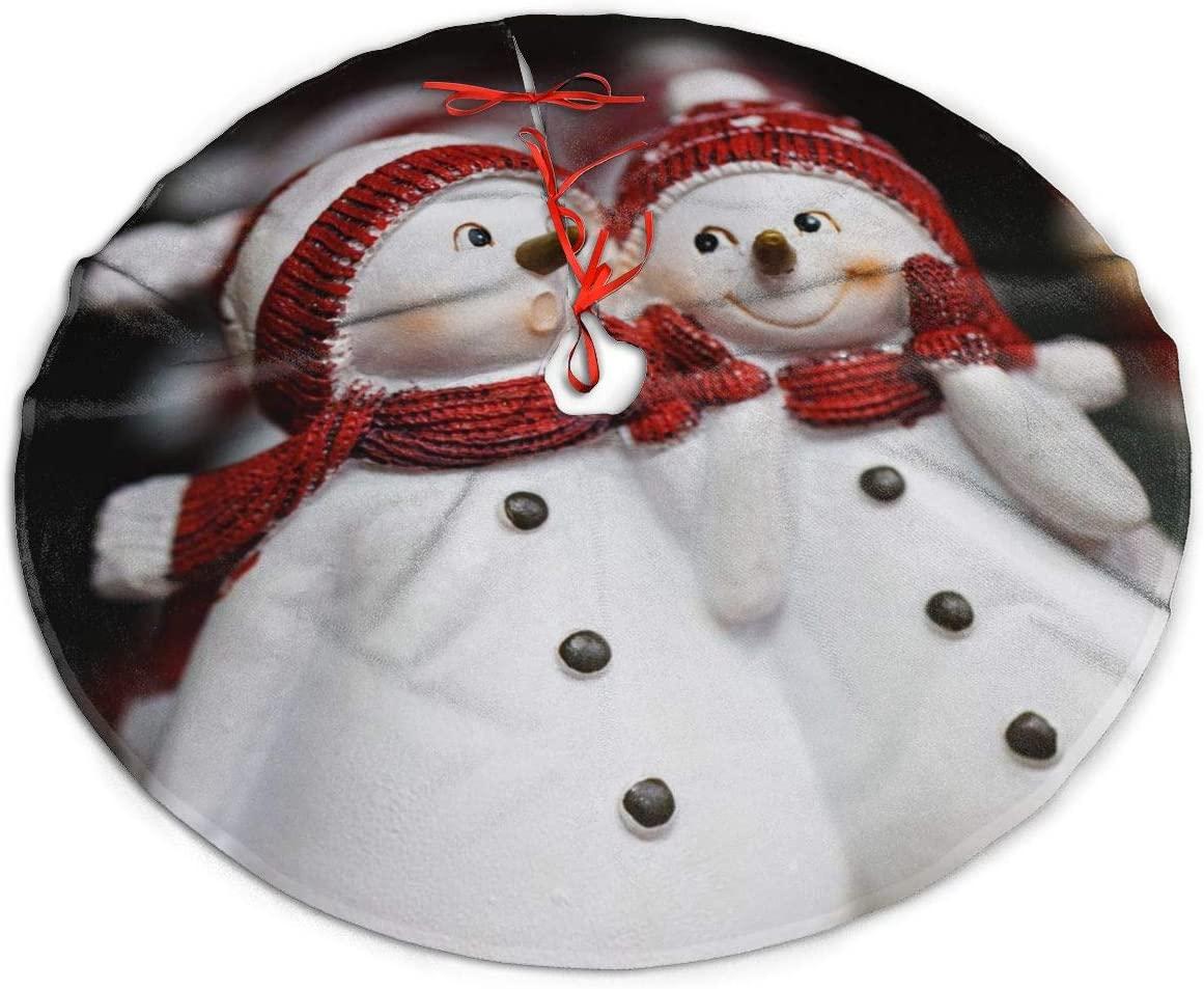 Nicokee Christmas Tree Skirt Snowman Tree Skirt for Xmas Ornaments Holiday Ornaments Christmas Decor
