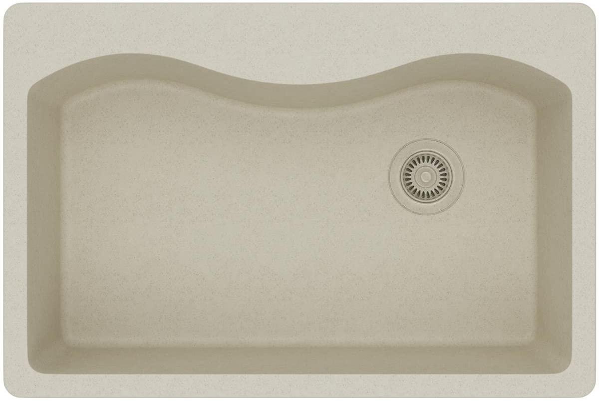 Elkay Quartz Classic ELGS3322RBQ0 Bisque Single Bowl Top Mount Sink