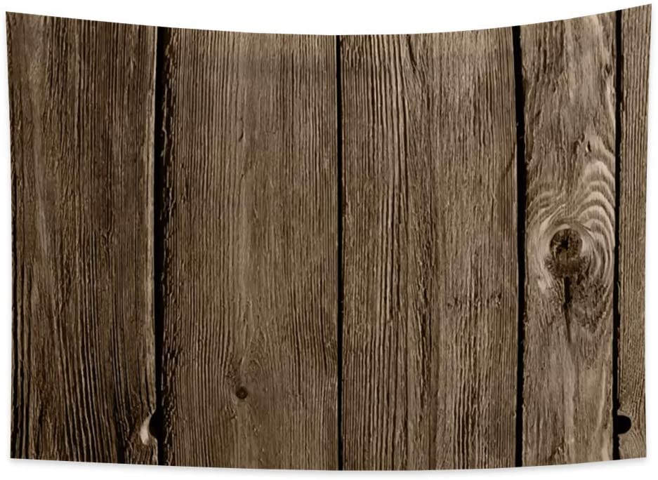 OERJU 39.4x27.6 inches Wooden Tapestry Bed Cover Realistic Nature Burlywood Modern Style Tree Trunk Wood Plank Wall Hangings Bedroom Decoration College Dorm Picnic Beach Blanket Tablecloth