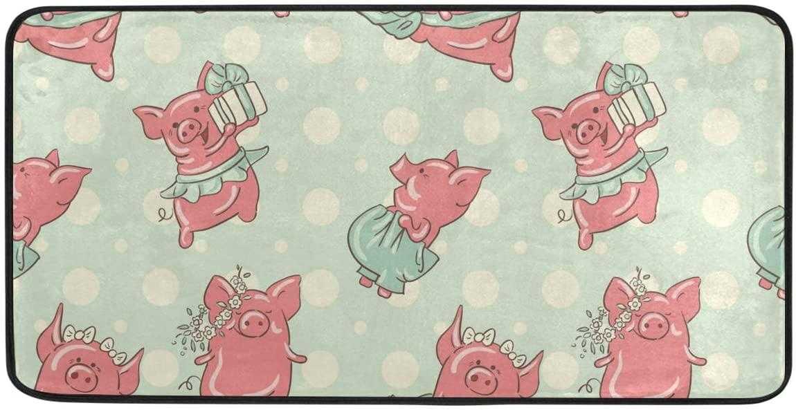 CiCily Doormat Area Rug Mat Pigs for Bedroom Front Door Kitchen Indoors Home Decors