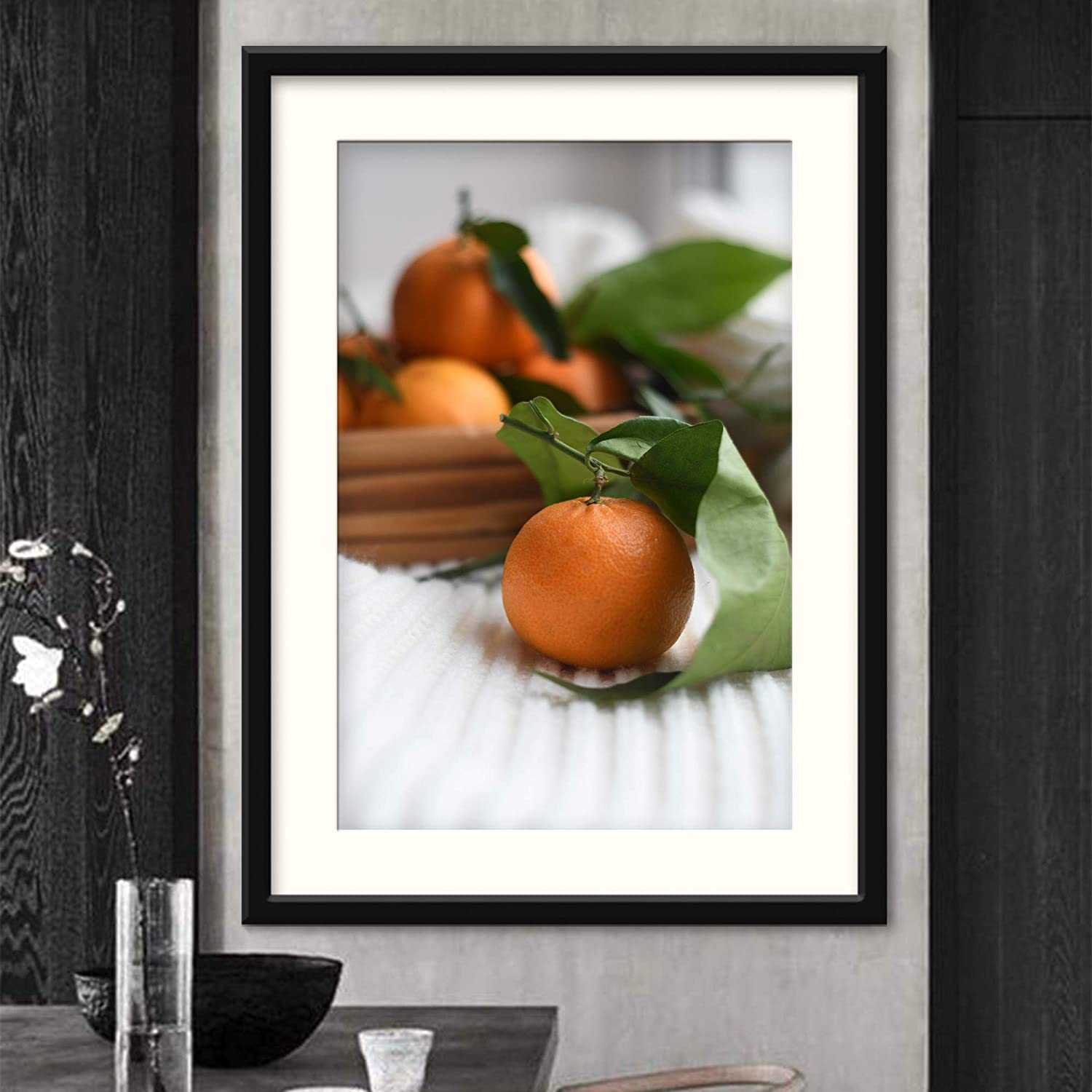 H5print Framed Canvas Wall Art Fruits II Farmhouse/Country Food Fun Kitchen Multicolor Photography Spices Artwork Black Frame - 23x31 inches