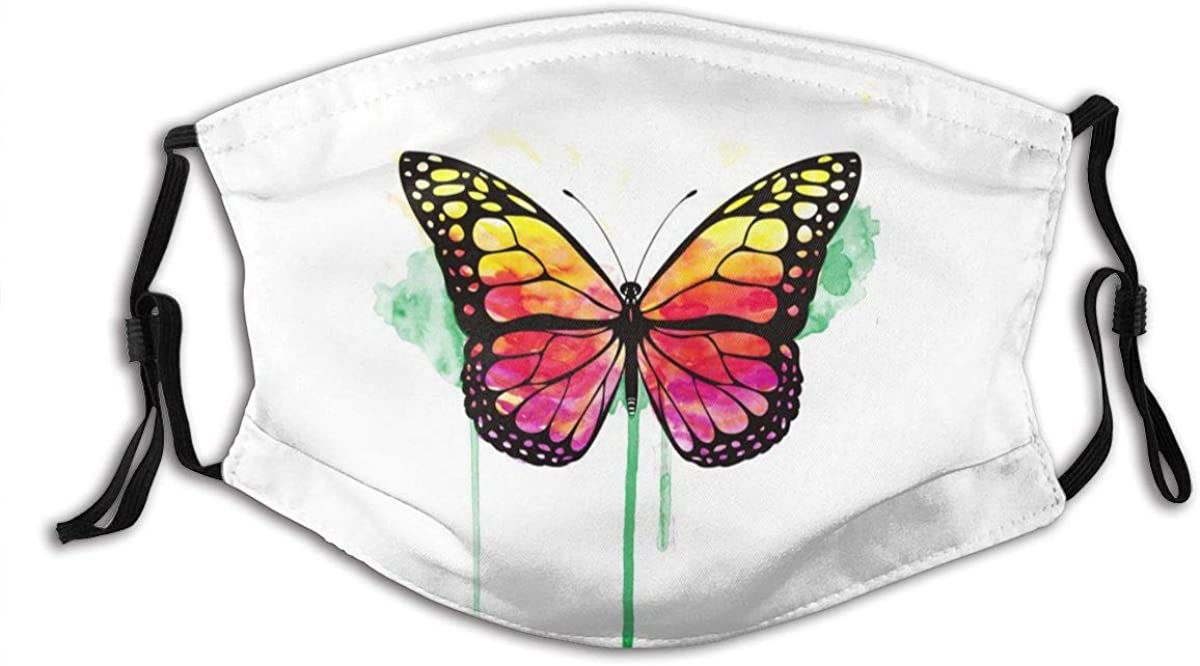 Butterfly Insect Wildlife Creature Comfortable Stylish Mouth Protection Face Mask Balaclavas Unisex Outdoor Dustproof