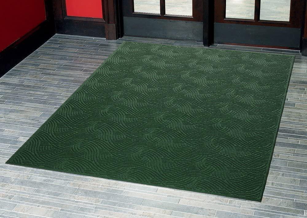 Consolidated Plastics Aquasorb Swirl Indoor/Covered Outdoor Heavy-Duty Entrance Floor Mat, Pine, 35