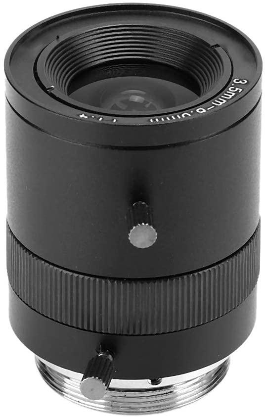 Oyunngs CCTV Aperture Surveillance Zoom Lens, 5-100mm Manual Iris Lens, M12 Mount 720P Fixed-Non-Zoom Lens for CCTV DSLR